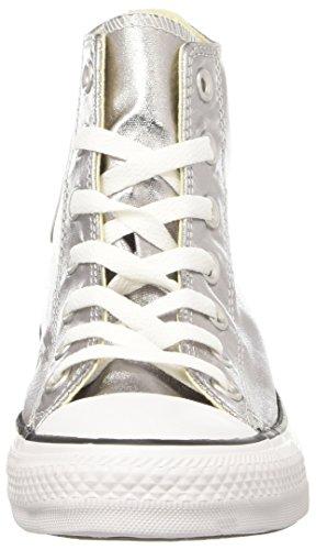 Alto Grigio Donna A Hi Ctas Converse white gunmetal black Collo Sneaker FqXU10w