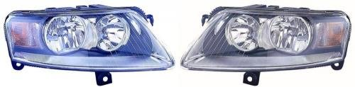 (Go-Parts PAIR/SET OE Replacement for 2006-2010 Audi A6 Front Headlights Headlamps Assemblies Front Housing/Lens / Cover - Left & Right (Driver & Passenger) Side - (4 Door; Sedan) for Aud)