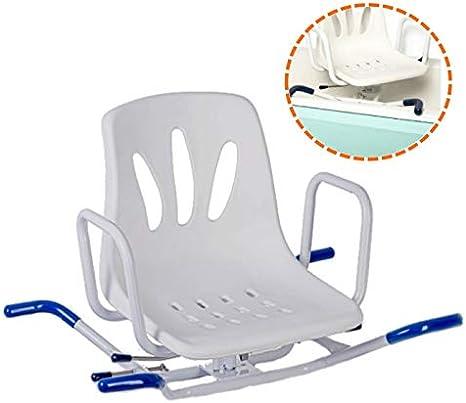Pack OrtoPrime Silla Bañera Giratoria 360º - Asiento Giratorio para Ancianos o Discapacitados - Silla para Bañera Ortopédica con Respaldo y Reposabrazos - 24 Esponjas Jabonos