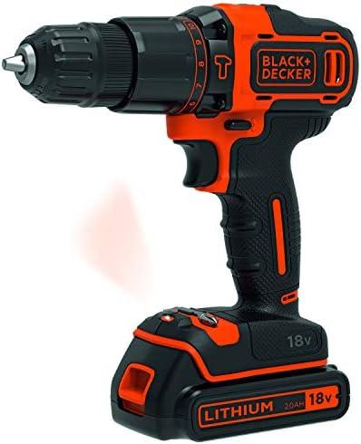 Rabais 2020 BLACK+DECKER BDCHD18S32-QW Perceuse à percussion sans fil - 32 accessoires - Chargeur standard, 18V, Sac souple, 1 batterie  nwS2V