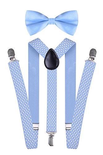 thick light blue suspenders - 9