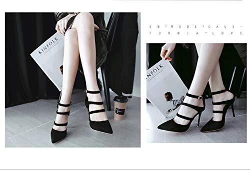 Talons Hauts D'été Fine Fashion Rome High Talon Main Heels Pointu Super Chaussures Hauts Ultimate Peeps Sandales Sandales Noir Creux High À Sandales Lady High Talons LIANGXIE La À RqUnHH