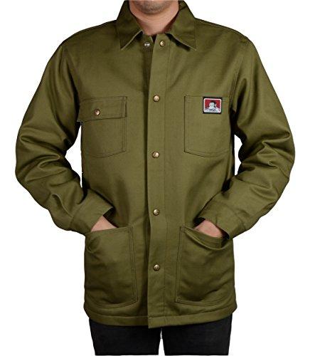 Ben Davis Men's Original Style Jacket, with Front Snap (Army Green, Medium)