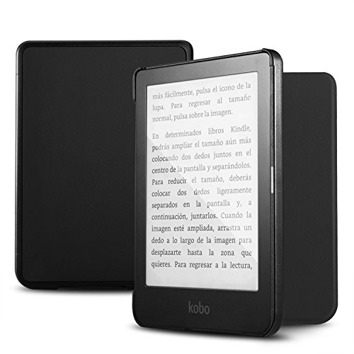 Luibor Kobo Ereader Clara HD 6.0i Tablet Case - Slim Smart Cover Case Ultra Lightweight leather case for Kobo Ereader Clara HD 6.0i Tablet (Black)