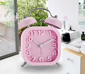 Wall clock home Despertarse Color Caramelo Cuadrado Doble ...