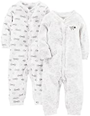 Simple Joys by Carter's baby-boys 2-Pack Neutral Cotton Footless Sleep and Play Fo