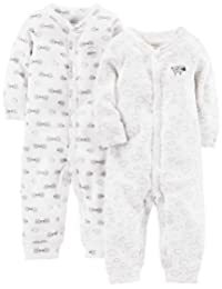 Simple Joys by Carter's baby-boys 2-pack Cotton Footless Sleep and Play Footie