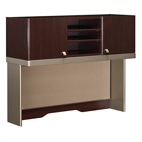 Quantum Paper Tray - Bush Business Furniture Quantum Collection 48W Hutch (Tall) finished in Harvest Cherry