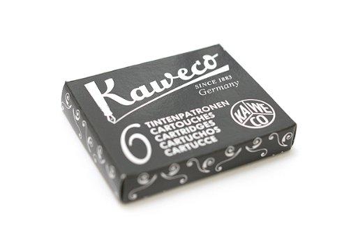 Kaweco Fountain Pen Ink Cartridge - Black - Pack of 6