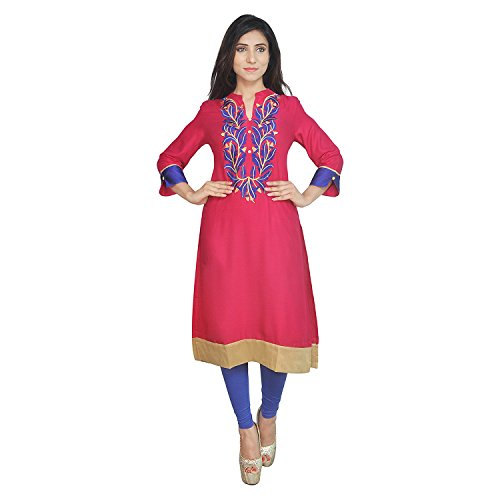 Chi Chi Chichi Women 3/4 Sleeve Tunic Top Embroidered Kurti Blouse by CHI (Image #1)