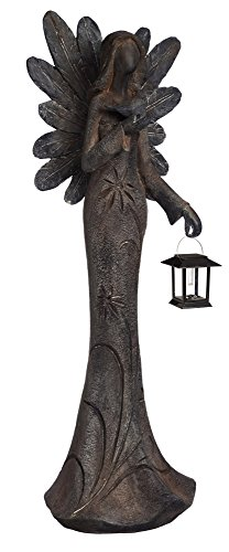 New Creative Floral Angel Garden Statue with Solar Lantern by New Creative