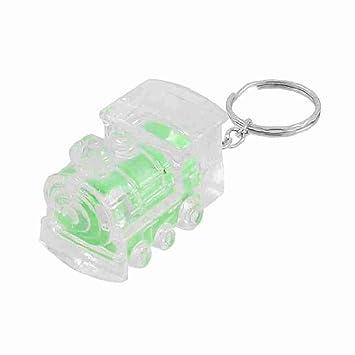 Verde Claro tren Diseño Mini linterna antorcha Llavero de ...