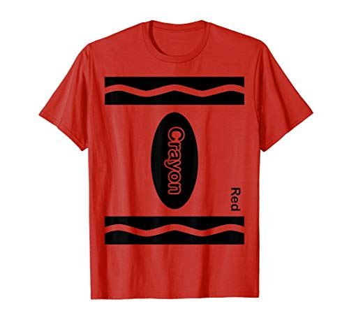 Red Crayon Halloween Costume Shirt For Friends and