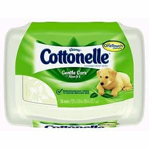 Cottonelle Flushable Moist Wipes Pop-Up Tub, Soothing Clean, 36 ea