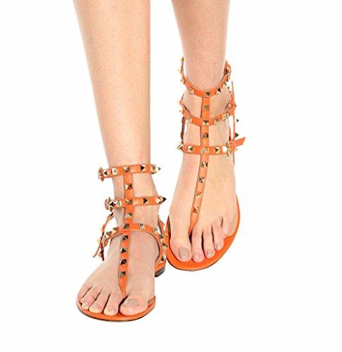 Amy Q - Zapatos de tacón  mujer naranja