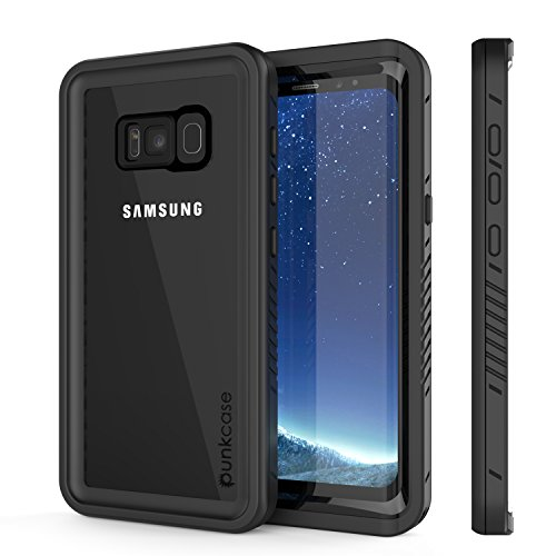Galaxy S8 Waterproof Case, Punkcase [Extreme Series] [Slim Fit] [IP68 Certified] [Shockproof] [Snowproof] [Dirproof] Armor Cover W/Built in Screen Protector for Samsung Galaxy S8 [Black]