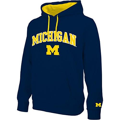 E5 Men's NCAA Hoodie, Michigan, L (Hoodie Ncaa Pullover)
