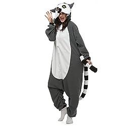 YiMads Unisex Animal Onesie Adult Halloween Cosplay Costumes for Women Men