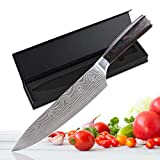 NIANPU 8 Inch Chef Knife,High Carbon Stainless Steel Kitchen Knife Ultra Sharp Gyutou Knives,German High Carbon Chef Cooking Knives with Ergonomic Handle