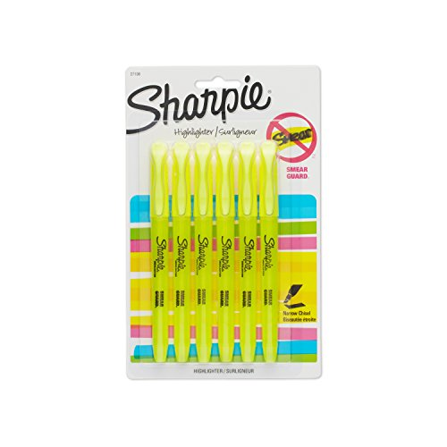 Sharpie 27108PP Accent Pocket Style Highlighter, Fluorescent Yellow, ()