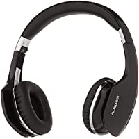 AUSDOM M07 Foldable On-Ear Wireless Bluetooth Headphones with Mic (Black)
