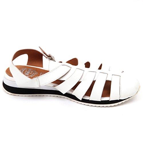 Boulet Campbell Basso D2238 Donna Jeffrey Sandalo Woman Bianco Shoe Scarpe Bianco q4nxw76