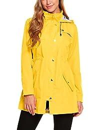 9b90a1495cc Womens Lightweight Hooded Waterproof Active Outdoor Rain Jacket S-XXL
