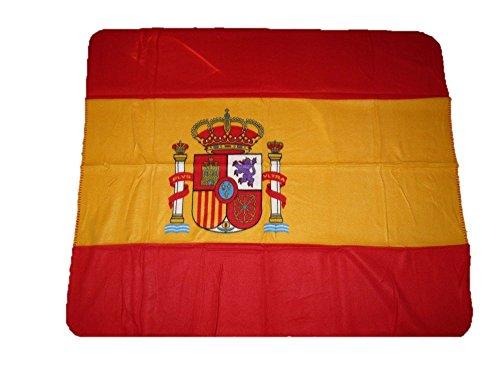 Spain Spanish Flag 50x60 Polar Fleece Blanket Throw by AES