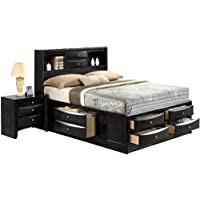 ACME 21610Q Ireland Bed, Queen, Black