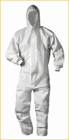 Schutzanzug gegen infizierende Risiken, Farbe: weiß, Gr.: XXL