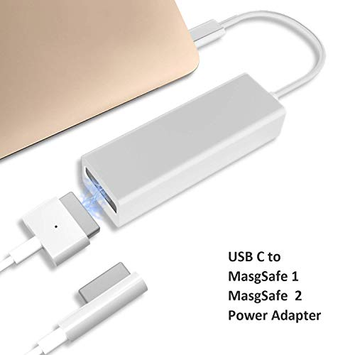 Dreamvasion USB C Adapter Compatible for MagSafe 2 & 1, Type C to Compatible MagSafe L/T-Tip Charging Converter Compatible for MacBook Pro 121315, Chromebook Pixel, Nintendo Switch,Samsung and More