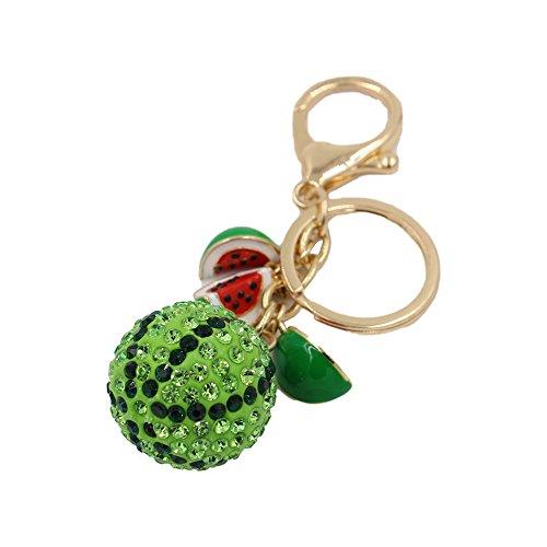 CINRA® Shiny Crystal Watermelon Pendant Car Key Chain Key Jewelry Keyring Fashion Trinket Souvenir Christmas Gift Key Holder Key Finder Bag Decorations