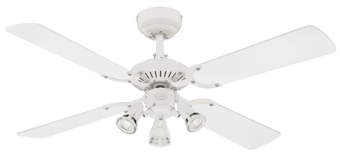 Westinghouse 7211340 Princess Euro Ventilateur de plafond GU10 Métal blanc product image