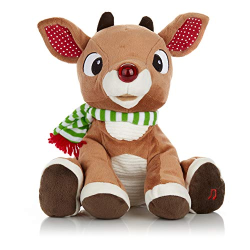 Rudolph the Red – Nosed Reindeer – Stuffed Animal Plush Toy with Music & Lights