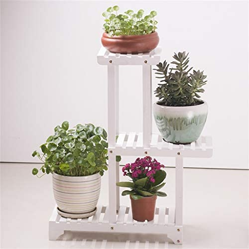 植物スタンドディスプレイスタンド木製ガーデン植栽植物鉢植え屋内と屋外の多層ラック55×25×77.5センチ