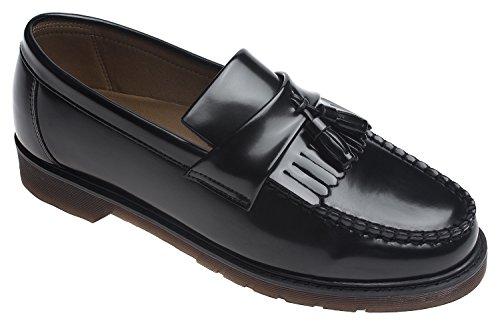 AGOS Mens Classic Kiltie Tassel Loafer Casual Slip Ons Black