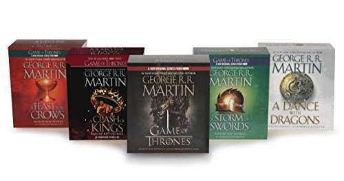 George R. R. Martin Song of Ice and Fire Audiobook Bundle: A Game of Thrones (HBO Tie-in), A Clash of Kings (HBO Tie-in), A Storm of Swords A Feast for Crows, and A Dance with Dragons