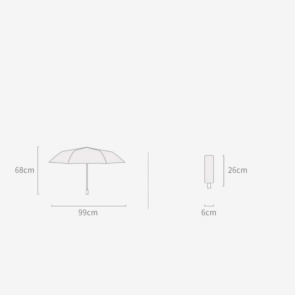 Qeeuanl Full-Automatic Umbrella Large Folding Compact Portable UV Protection Sun Shade Female Sun and Rain Dual-use S Sun Umbrella Black Plastic Thick Small Fresh Color : White