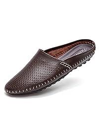 YiCeirnier 8805-1 - Zapatillas de Piel para Hombre