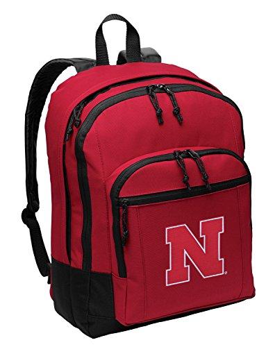 University of Nebraska Backpack MEDIUM CLASSIC Style With Laptop Sleeve Nebraska Cornhuskers Laptop Backpack