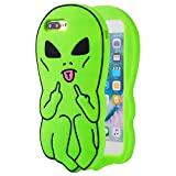 Artbling Case for iPhone 8 /7 4.7' Silicone 3D Cartoon Animal Cover,Kids Girls Boys Cool Cute Gost Cases,Kawaii Soft Gel Rubber Unique Fun Character Fashion Funny Protector for iPhone8 (Green Alien)