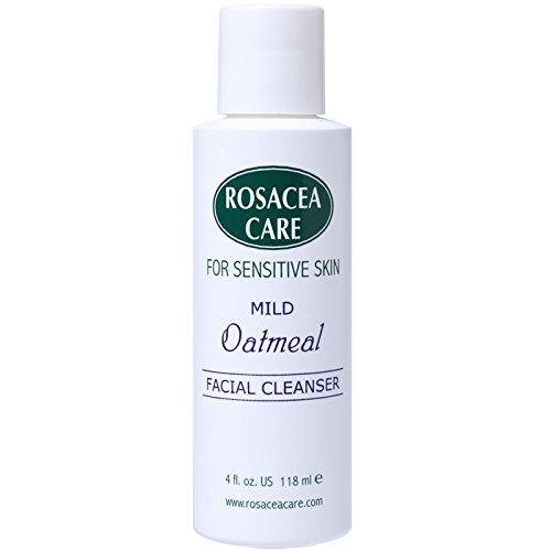 Mild Oatmeal Cleanser Non-Drying Redness Relief with Colloidal Oatmeal Best Natural Rosacea Cleanser Really Effective Anti Itch for Dry Sensitive Skin (4 Fl Oz) ()