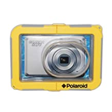 Polaroid Dive-Rated Waterproof Camera Housing For The Panasonic Lumix DMC-FH1, FH2, FH3, F5, FH6, FH7, FH8, FH10, FH20, FH22, FH25, FH27, FS10, FS11, FS16, FS18, FS22, FS30, FS33, FS35, FX40, FX48, FX66, FX68, FX77, FX78, S1, S2, S3, SZ1, SZ3, SZ7, ZS30, XS1, TZ40, ZR3, ZX3 Digital Cameras