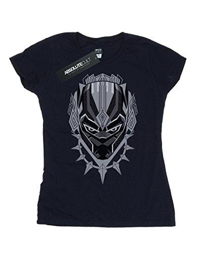 Head azul Marvel Panther Black marino camiseta mujer wEETCUq