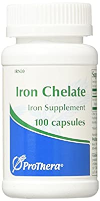 Prothera Iron Chelate Multiple Vitamin Mineral Combinations, 30 mg, 100 Count