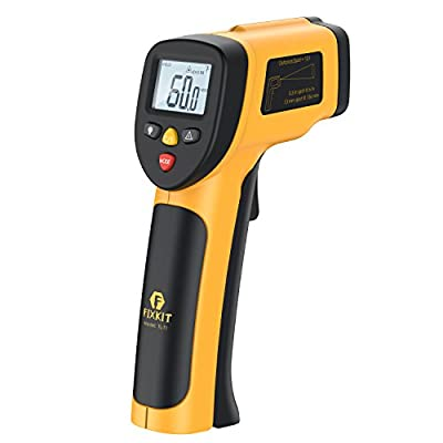 FIXKIT Digital Laser Infrared Thermometer, Non-contact Accurate Surface Temperature Gun with Laser Sight MAX Display (-58?~842?/-50??450?)