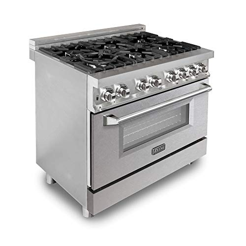 ZLINE 36 in. Professional Dual Fuel Range with Snow Finish Door (RA-SN-36)