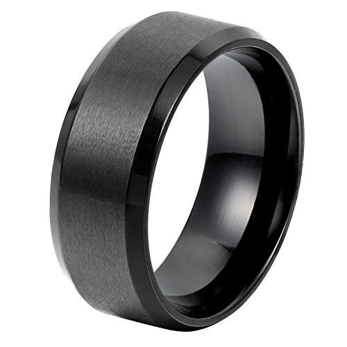 OIDEA Herren Edelstahl Ring