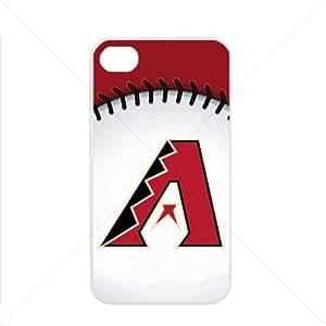 MLB Major League Baseball Arizona Diamondbacks Apple iPhone 4 / 4s TPU Soft Black or White case (White) hjbrhga1544