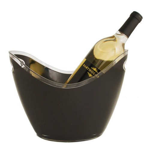 True 2116 Swoop Ice Bucket for Parties Wine and Cocktail Bottle Holder, Set of 1, Black